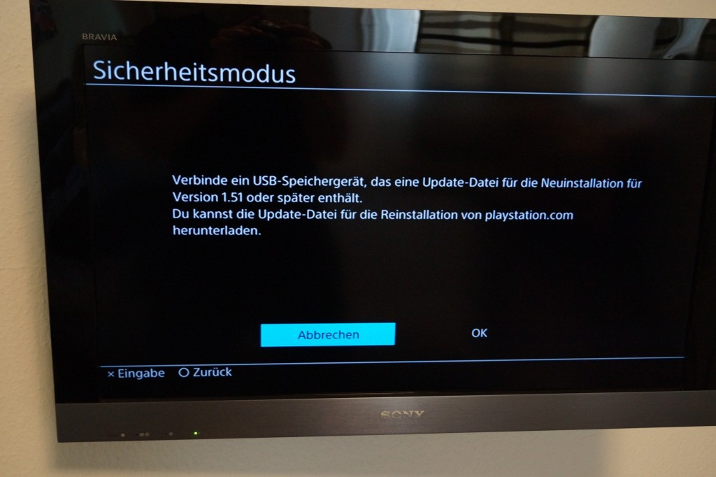 install ps4 firmware in safe mode